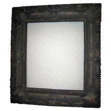 Old Muti-layered Tramp Art Frame With Star Corners