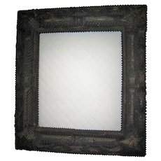 Old Muti-layered Tramp Art Frame With Star Corners