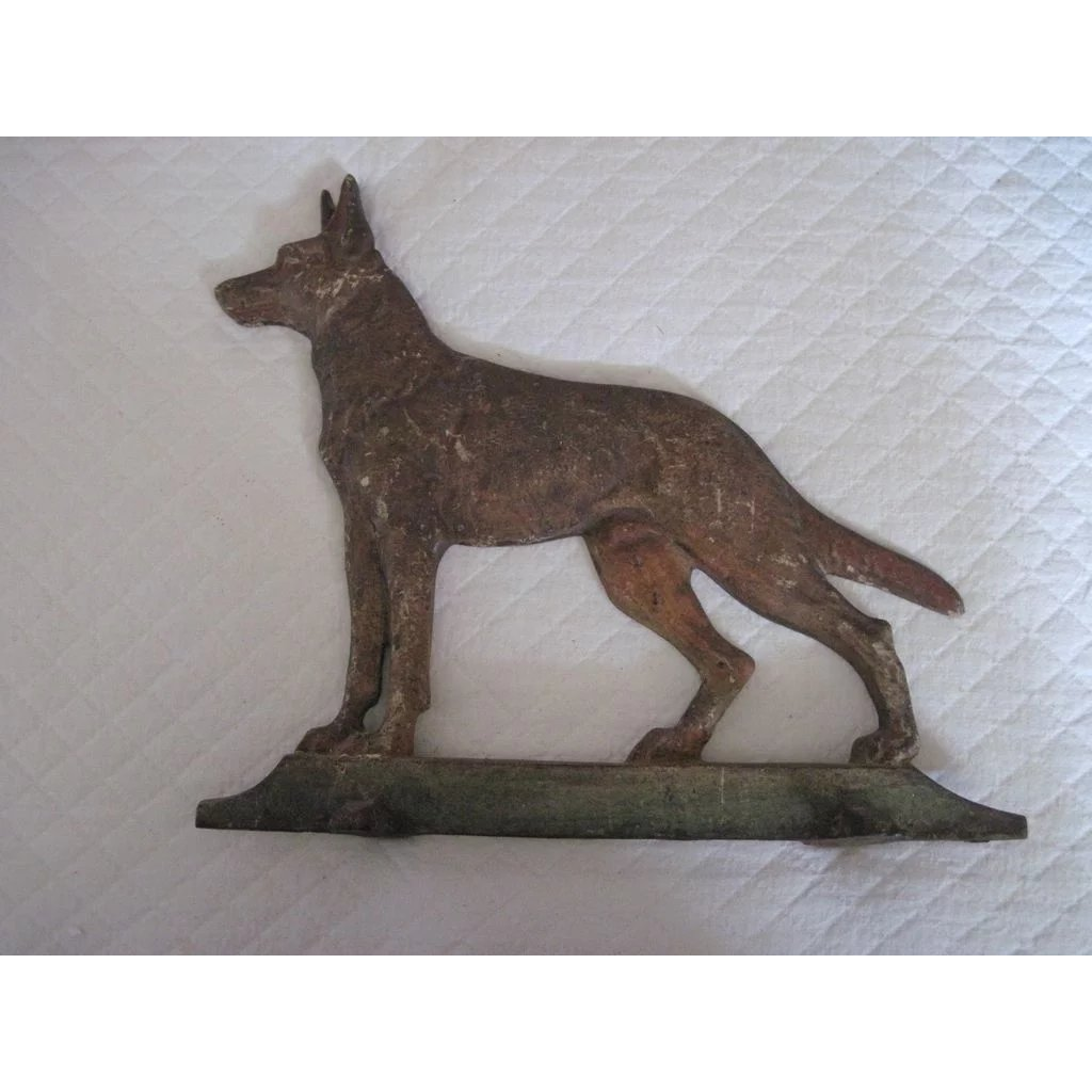 Old Cast Iron Doorstop German Shepherd Dog Sold Ruby Lane