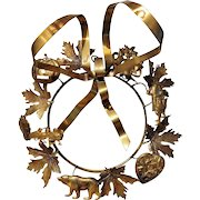 Vintage Petite Choses Brass Holiday Dresden Wreath ~ Valentine ~ Easter ~ Halloween ~ Christmas ~ Thanksgiving