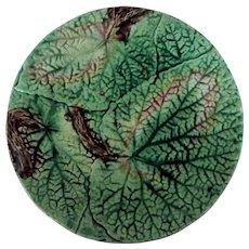 Circa 1880 English Majolica Overlapping Begonia Leaf Plate