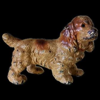 Hubley Cast Iron Paper Weight Cocker Spaniel Dog