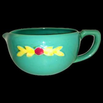 Vintage Coors Rosebud Pottery Green Batter Bowl