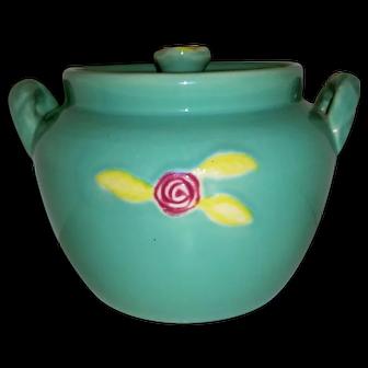 Vintage Coors Rosebud Pottery Green Bean Baking Pot