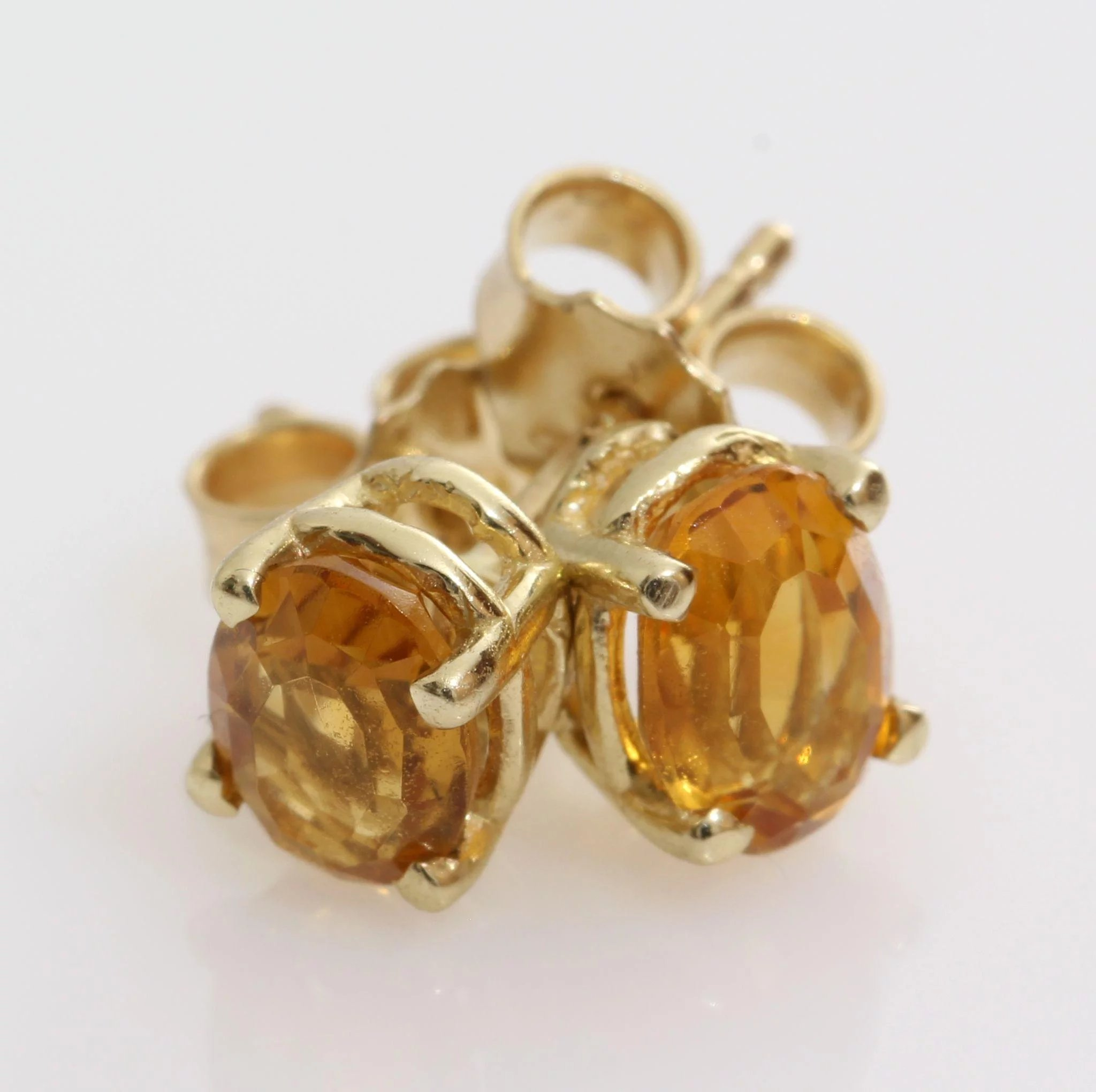 Yellow Topaz Stud Earrings Image Of Earring