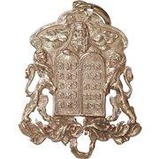 Russian Moses Gold Pendant | 14K Rose Gold | Victorian Antique Judaica