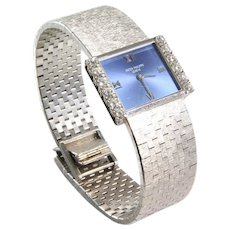 Patek Philippe Ladies Watch   18K White Gold Diamond   Swiss Vintage