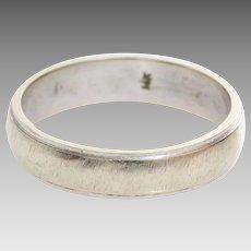 Vintage Wedding Ring   14K White Gold   Marriage Band Two Tone USA