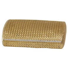 Van Cleef Cigarette Case | 18K Gold Diamond | Vintage Necessaire Box