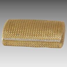 Van Cleef Cigarette Case | 18K Gold Diamond | Vintage Necessaire Box