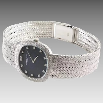 Audemars Piguet Ladies Watch | 18K White Gold Diamond | Vintage Wrist