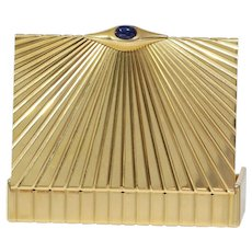 Cartier Gold Cigarette Case | 18K Yellow Gold Sapphire | Vintage Box