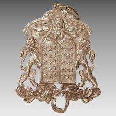 Russian Moses Gold Pendant   14K Rose Gold   Victorian Antique Judaica