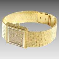 Jean Perret Ladies Watch | 18K Yellow Gold | Swiss Vintage Retro Wrist