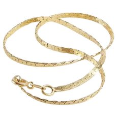 Braided Gold Bracelet | 14K Yellow Link | Vintage Woven Flexible