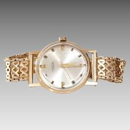 Russian Mens Wrist Watch | 14K Yellow Gold | Vintage Round Rose Gents