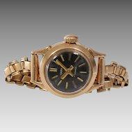 Russian Ladies Wrist Watch | 14K Yellow Gold | Vintage Round Rose