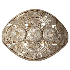 Edwardian Diamond Engagement Ring | 18K Gold Platinum | Antique Cocktail