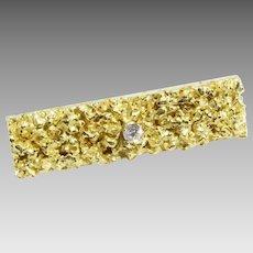 Diamond Gold Tie Clip   18K Yellow Vintage   Liberia Africa Mens Retro