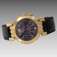 Harry Winston Excenter Premier Watch | 18K Gold Chronograph | Vintage