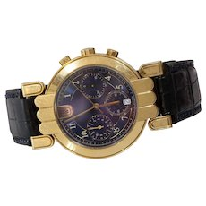 Harry Winston Excenter Premier Watch | 18K Gold Chronograph | Vintage