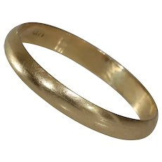 Vintage Gold Wedding Ring | 14K Yellow Band | Marriage Israel Jewelry
