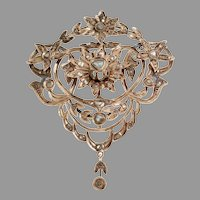 Ottoman Diamond Pendant | 9K Rose Gold | Antique Pectoral Jerusalem