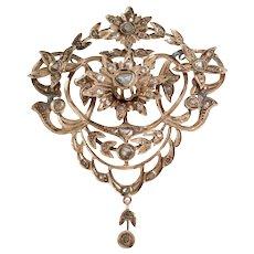 Ottoman Diamond Pendant | 9K Rose Gold | Antique Pectoral Jerusalem