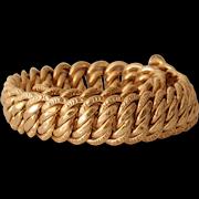 Retro Gold Link Chain Bracelet   18K Rose France   Vintage Jewelry