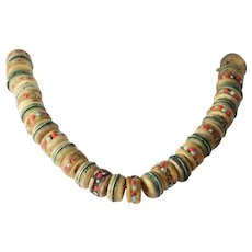 Tibetan Mala Bead Necklace | Yak Bone Buddhist | Vintage Prayer Nepal
