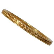 Art Deco Wedding Band Ring | 18K Yellow Gold | Marriage Vintage Estate