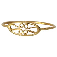 Love Knot Gold Ring | 18K Yellow Eternity | Vintage Band Infinity Bowen