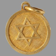 Retro Magen David Pendant | 18K Yellow Gold | Vintage Star Judaica