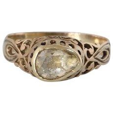Georgian Diamond Engagement Ring | 18K Yellow Gold | Antique Solitaire
