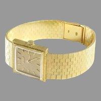 Jean Perret Ladies Watch   18K Yellow Gold   Swiss Vintage Retro Wrist