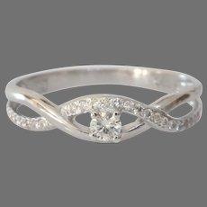 Vintage Diamond Engagement Ring | 14 Karat White Gold | Brilliant Cut