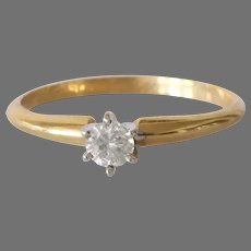 Vintage Diamond Engagement Ring | 14K Gold Solitaire | Bicolor Israel