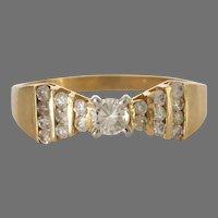 Vintage Diamond Engagement Ring | 14K Yellow Gold | Cocktail Israel