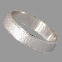Vintage Mens Wedding Band Ring   14K White Gold   Vintage Jewelry Israel