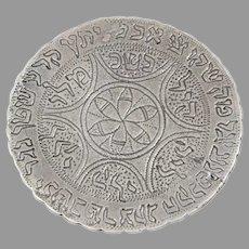 Kabbalah Silver Amulet Pendant | Vintage Judaica Israel | Round Kamaya