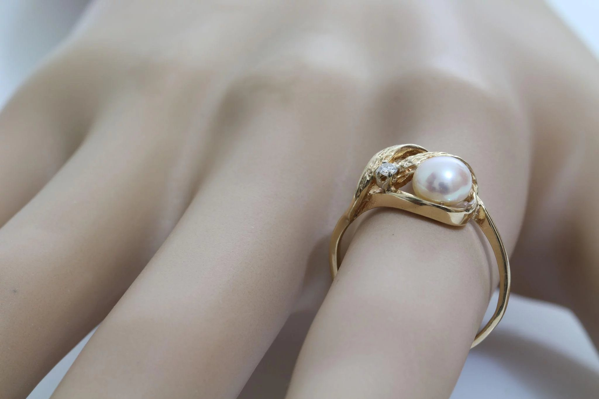 pearl tahitian black diamond matt amp white pearls aminoff gold rings image engagement ring
