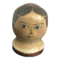 Vintage carved and hand painted head