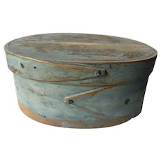 19th C pantry box with blue paint