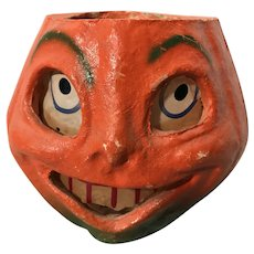Vintage Halloween pumpkin jack o' lantern, larger size
