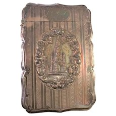 1849 Birmingham cathedral silver card case