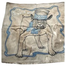 "Antique ""Handsome Dan"" Yale banner circa 1920's/1930's"