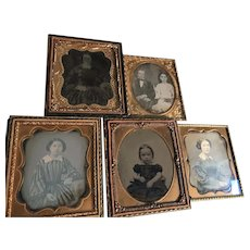 Five Civil War vintage photos, three dauguerrotypes, two ambrotypes, FREE shipping!