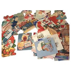 Lot of vintage Valentines day cards, some Christmas, etc