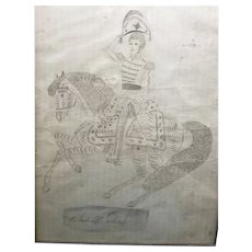 Circa 1830's Andrew Jackson drawing, finely detailed