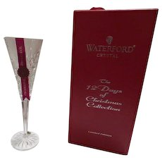 Waterford Crystal Christmas flute